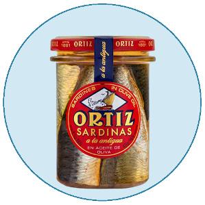 Conservas Ortiz sardinas a la antigua en aceite de oliva