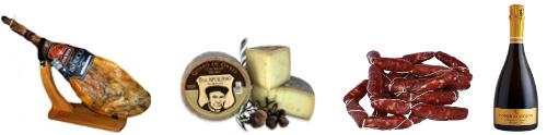 Jamón, queso, embutido Requena y cava