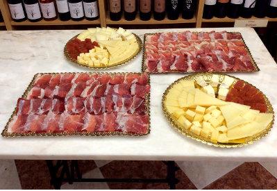 Bandejas de jamón y bandejas de queso