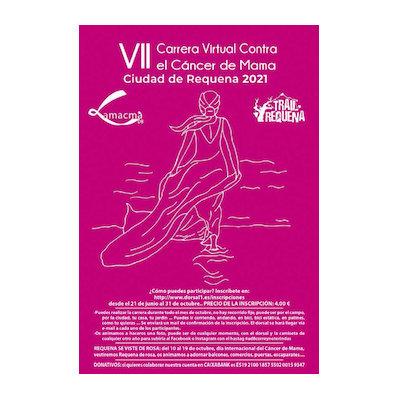 Cartel anunciador carrera contra cáncer Requena 2021